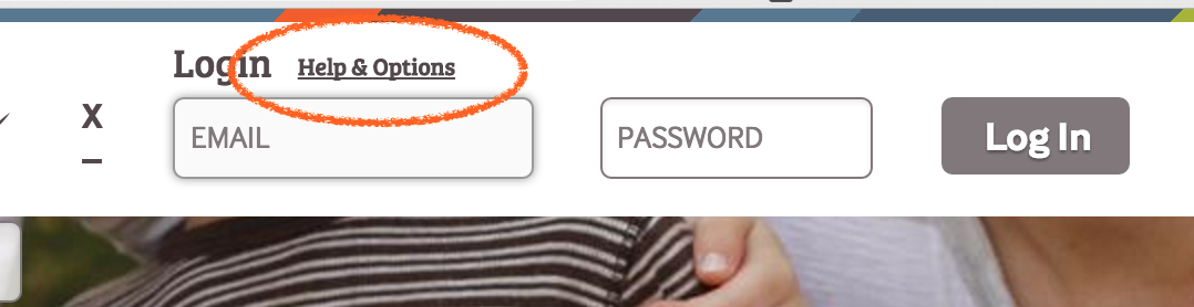 Login Help and Options