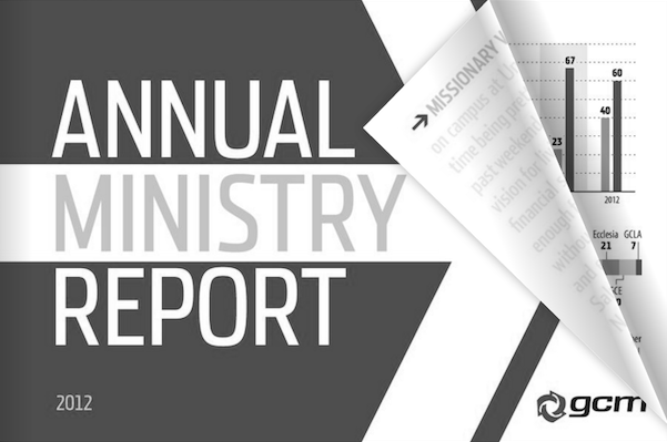 2012 Annual Ministry Report